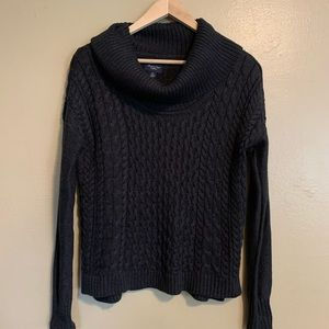 AEO | Dark Gray Chunky Cable Knit Sweater | S